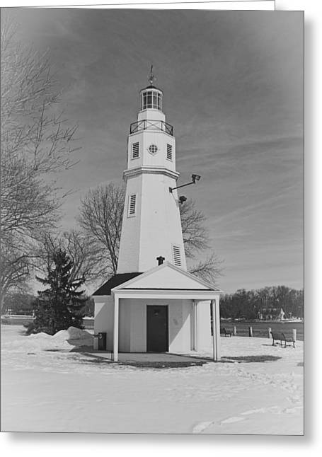 Kimberly Point Lighthouse Greeting Card by Thomas Young