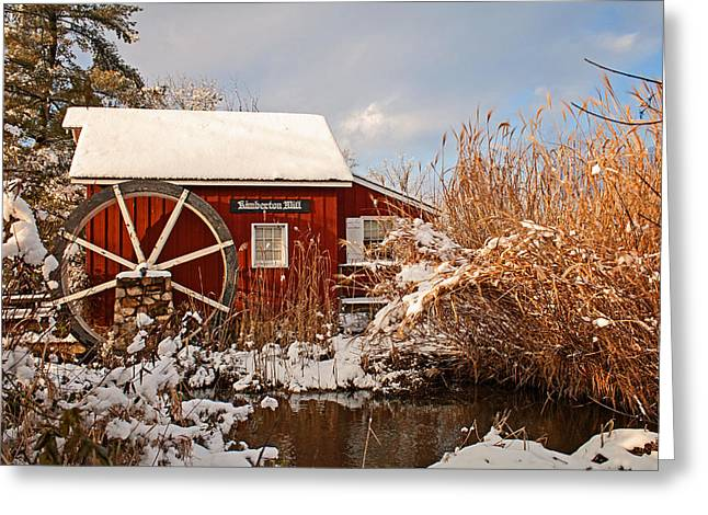 Kimberton Mill After Snow Greeting Card