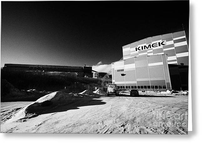 Kimex Shipyard Dry Dock And Iron Ore Processing Building Kirkenes Finnmark Norway Europe Greeting Card by Joe Fox
