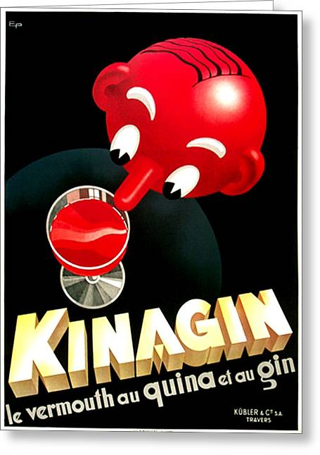 Kinagin Vermouth Red Greeting Card