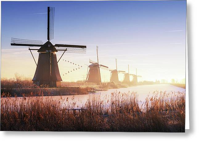 Kinderdijk 4. Greeting Card