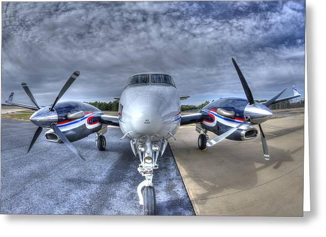 King Air C90 Greeting Card