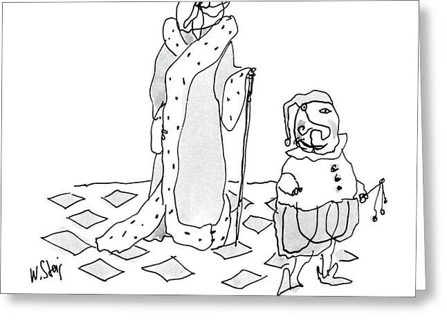 King And His Jester Greeting Card by William Steig