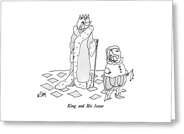 King And His Jester Greeting Card