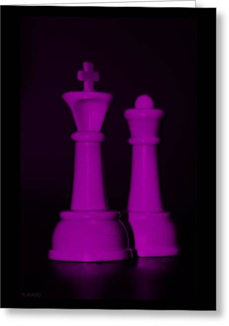 King And Queen In Pink Greeting Card by Rob Hans