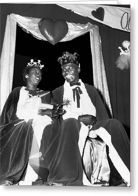 King And Queen Of Hearts Greeting Card by Underwood Archives