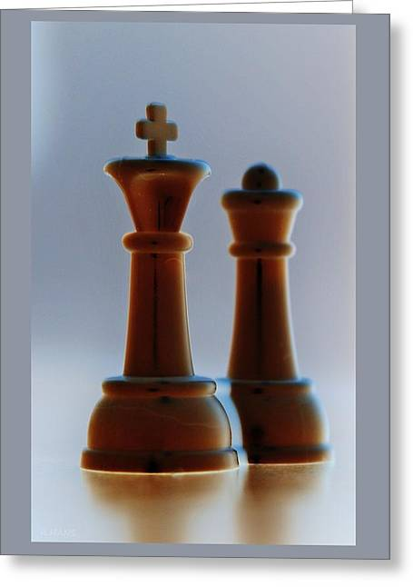 King And Queen Greeting Card by Rob Hans