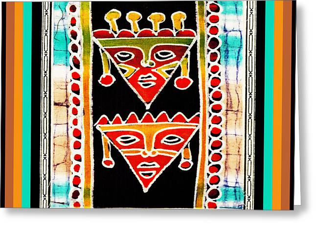 Greeting Card featuring the digital art King And Queen by Vagabond Folk Art - Virginia Vivier
