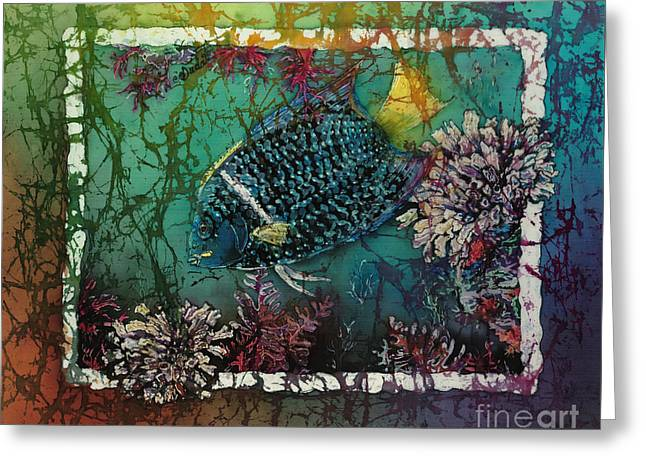 King Angelfish Greeting Card by Sue Duda