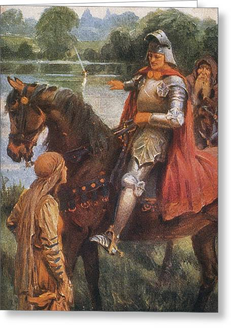 King Arthur & Excalibur Greeting Card by Granger