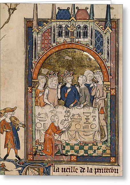 King Arthur's Feast Greeting Card by British Library