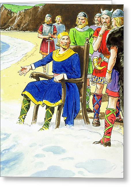 King Canute From Peeps Into The Past Greeting Card