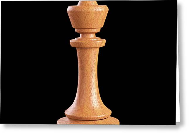 King Chess Piece Greeting Card