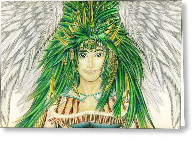 King Crai'riain Portrait Greeting Card