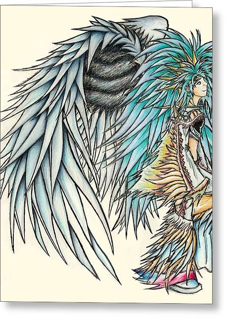 King Crai'riain Greeting Card by Shawn Dall
