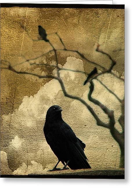 King Crow Greeting Card by Gothicrow Images