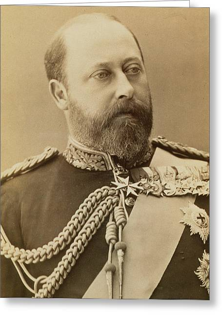 King Edward Vii  Greeting Card by Stanislaus Walery