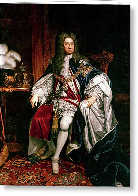 King George I Of England (1660-1727) Greeting Card by Granger