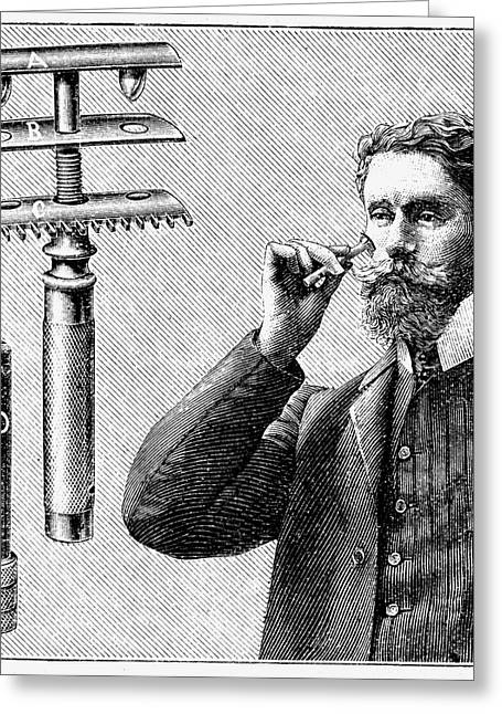 King Gillette's Safety Razor Greeting Card