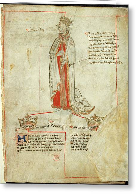 King Henry I Greeting Card by British Library