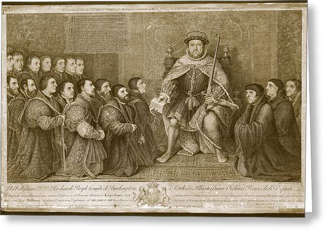 King Henry Viii Greeting Card by Museum Of The History Of Science/oxford University Images
