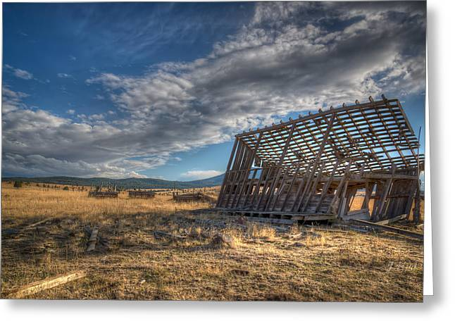 King Homestead Barn Greeting Card by Joe Hudspeth