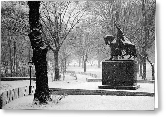 King Jagiello Braves A Blizzard Greeting Card