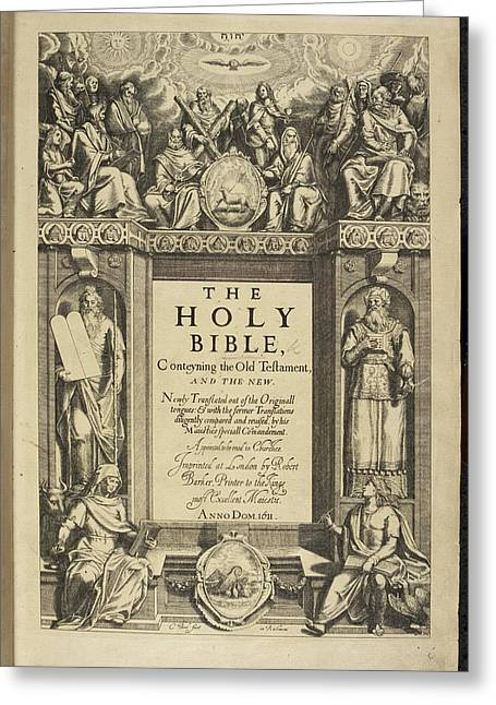 King James Bible Greeting Card by British Library