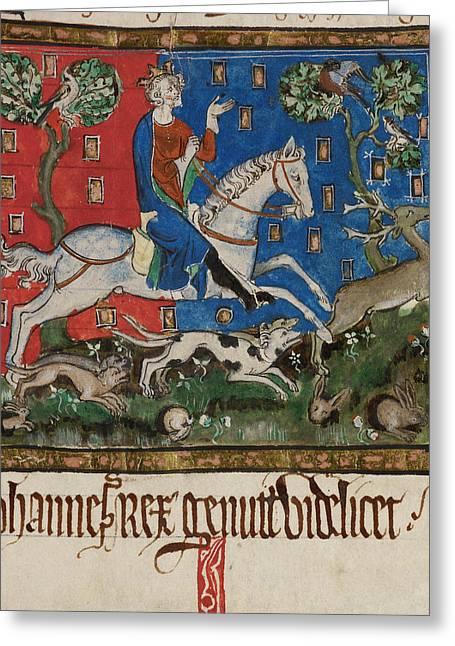 King John Hunting Greeting Card by British Library