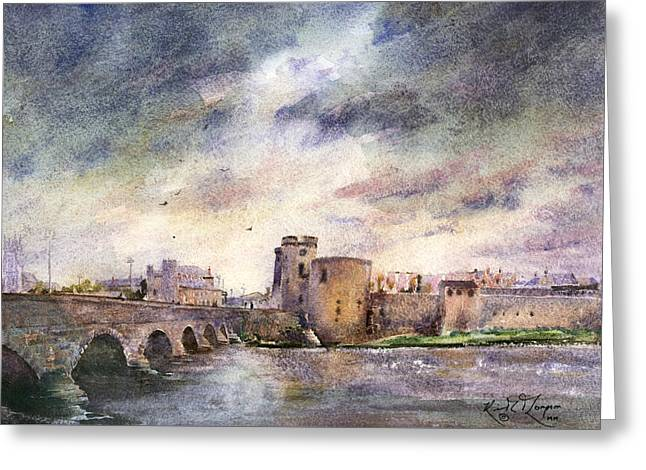 King Johns Castle County Limerick Ireland Greeting Card by Keith Thompson