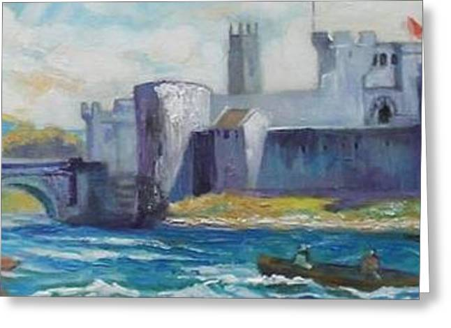 King Johns Castle Limerick Ireland Greeting Card