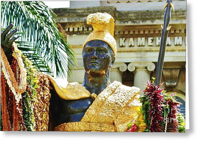 King Kamehameha The First Greeting Card by Craig Wood