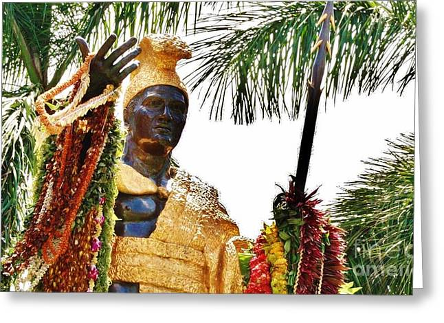 King Kamehameha The Great Greeting Card by Craig Wood