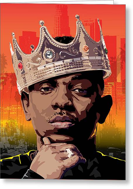 King Kendrick Greeting Card by Lawrence Carmichael