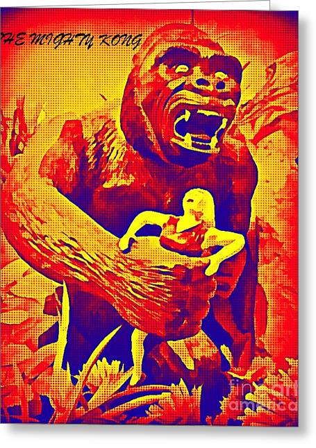 King Kong Greeting Card by John Malone