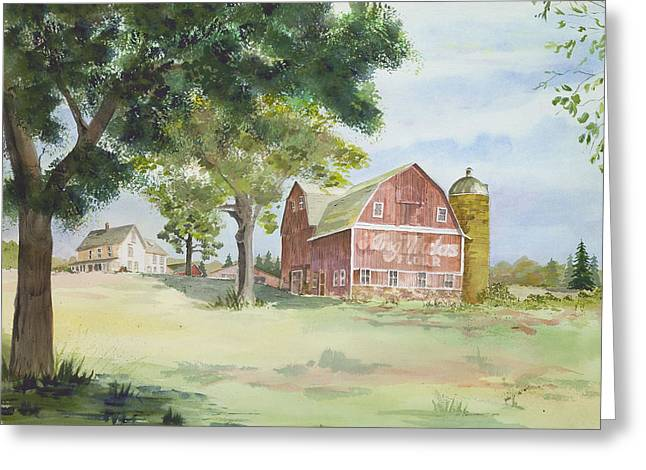King Midas Barn Greeting Card by Susan Crossman Buscho