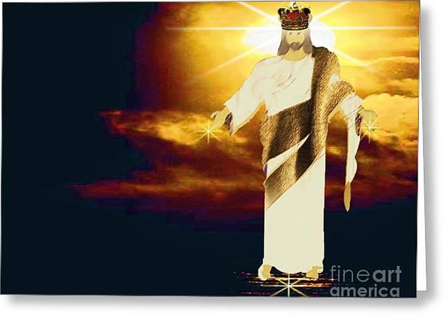 King Of All Kings Greeting Card by Belinda Threeths