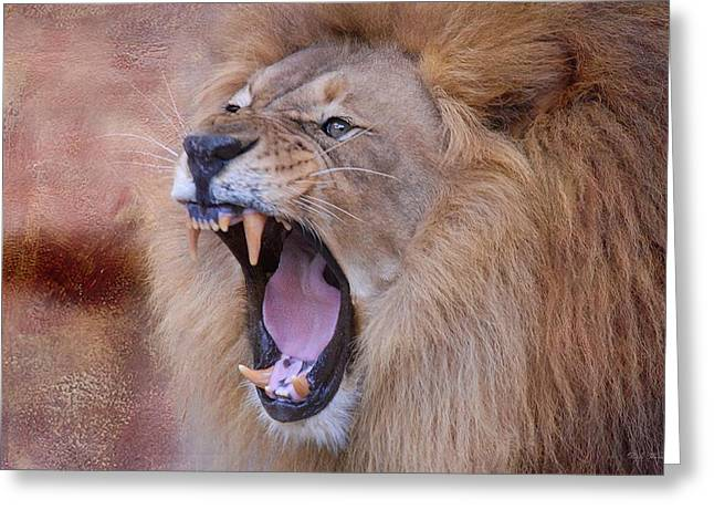 Greeting Card featuring the photograph King Of Beasts by Dyle   Warren
