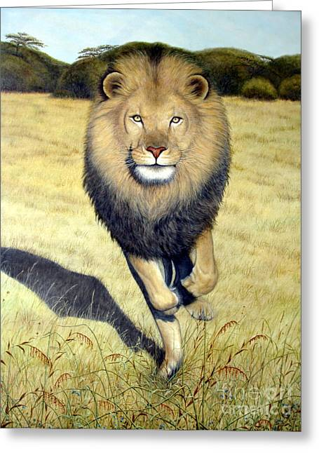 King Of Beasts Greeting Card by Joey Nash