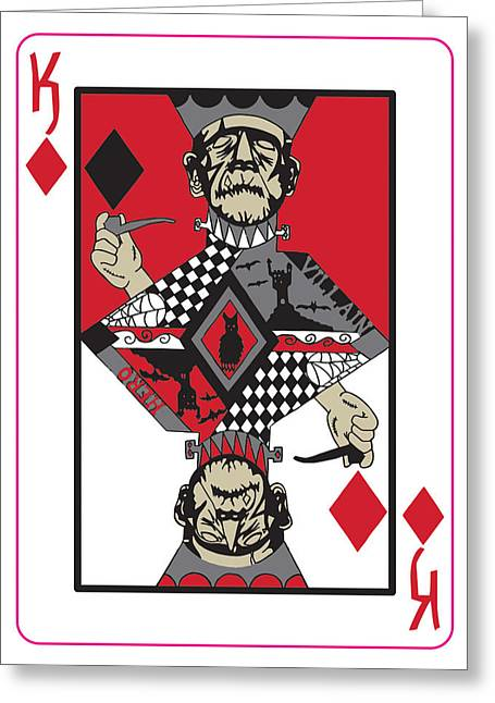 King Of Diamonds Greeting Card by Cevin Cox