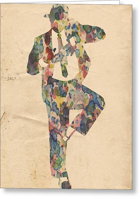 King Of Pop In Concert No 10 Greeting Card by Florian Rodarte