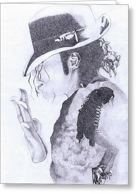 King Of Pop Greeting Card by Paul Smutylo