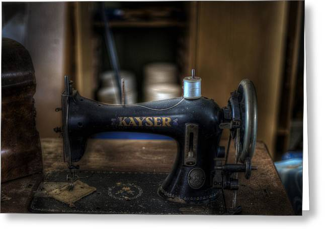 King Of Sewing Machines Greeting Card by Nathan Wright