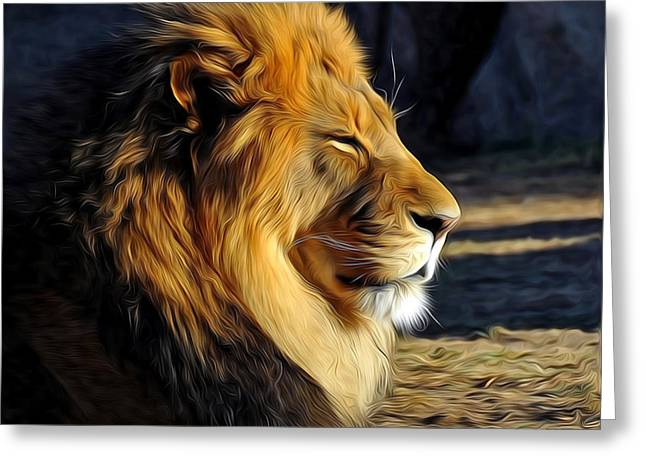 King Of The Beasts Greeting Card by John Hoffman