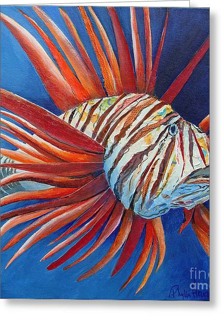 King Of The Deep Jungle Greeting Card