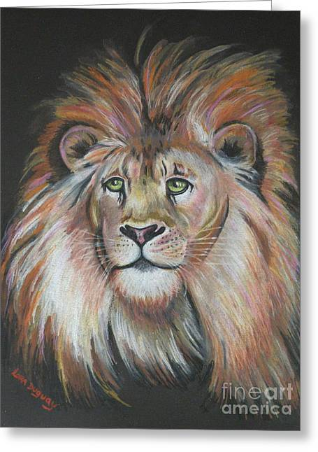 King Of The Jungle Greeting Card by Lora Duguay