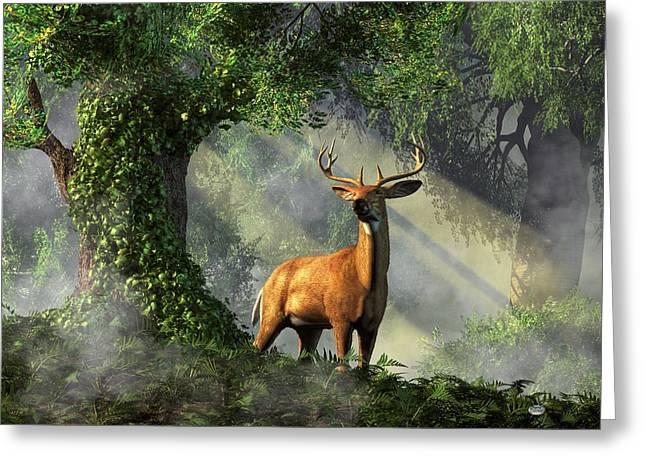 King Of The Woods Greeting Card by Daniel Eskridge