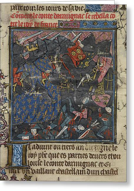 King Philip IIi Fights With Turbulent Bar Greeting Card