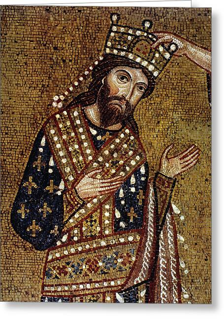 King Roger II Of Sicily Greeting Card by Granger