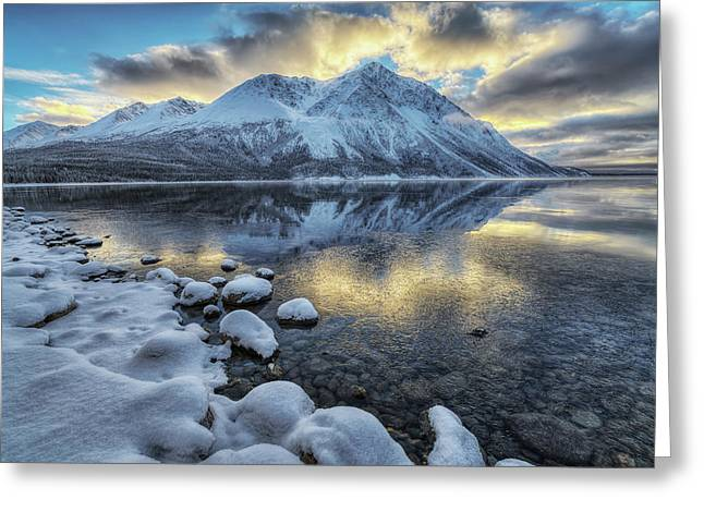 King S Throne And Kathleen Lake Greeting Card by Robert Postma